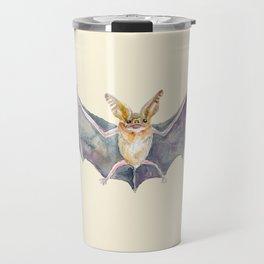 Watercolor Pallid Bat Travel Mug