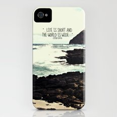 LIFE IS SHORT  iPhone (4, 4s) Slim Case