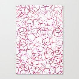 Red Geometrics, Watercolour Canvas Print