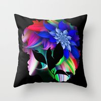 afro Throw Pillows featuring Afro by SmartyArt Chick