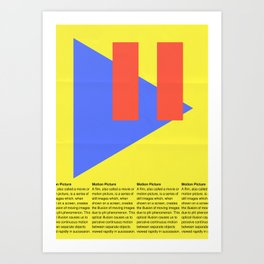 Motion Picture Definition Art Print