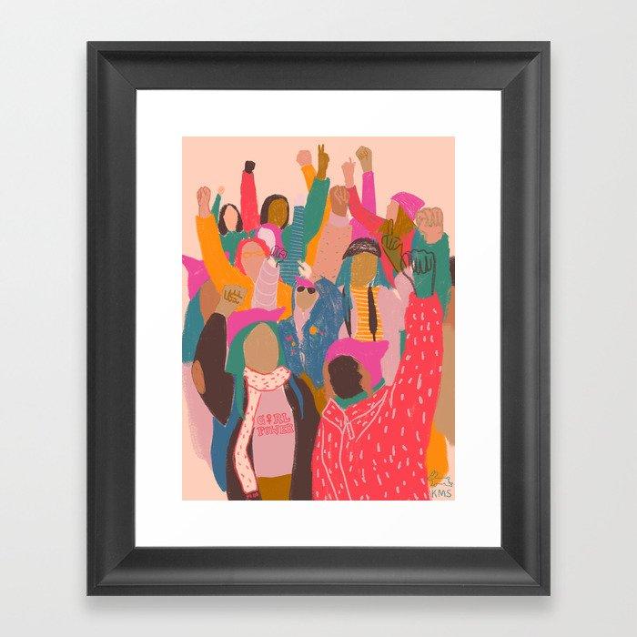 Womens march Gerahmter Kunstdruck