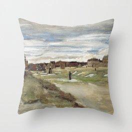 Vincent van Gogh - Bleaching Ground at Scheveningen Throw Pillow