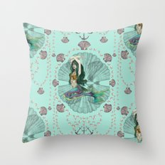 Mermaid Deco Throw Pillow