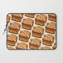 Turkey Club on White Laptop Sleeve