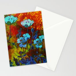 Hello blue poppies! Stationery Cards