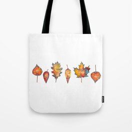 Orange Leaves for Autumn Tote Bag