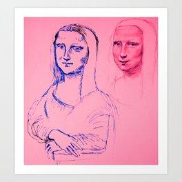 Mona Pink Art Print