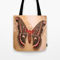 moth Tote Bags featuring Moth by KunstFabrik_StaticMovement Manu Jobst