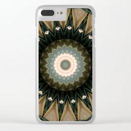 Nautical Mandala Clear iPhone Case