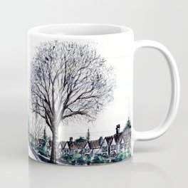 Quiet Road in Autumn, Watercolour Painting Coffee Mug
