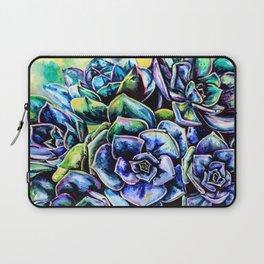 Watercolor Succulents art painting Laptop Sleeve