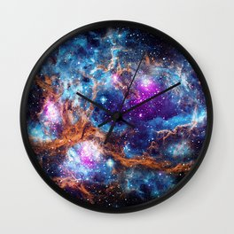Lobster Nebula Wall Clock