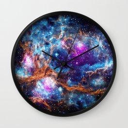 Lobster Nebula Wall Clock