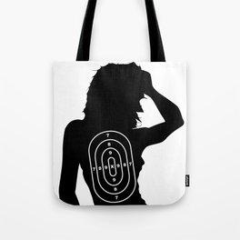Female Human Shape Target Tote Bag