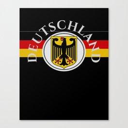 Deutschland ...German Flag and Eagle Canvas Print