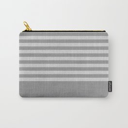 Gray color block and stripes Carry-All Pouch