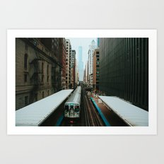 Meanwhile Above Wabash Art Print