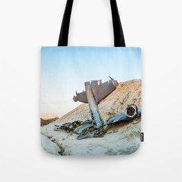 Desert Plane Wreckage Tote Bag