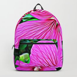 Pink Flowers of Diamond Essence Backpack