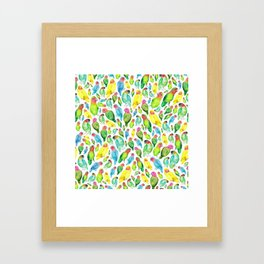 Love Birds Pattern Framed Art Print
