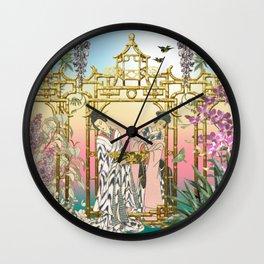 Geishas at the Gate Wall Clock