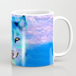Wolf Moon and the Deep Blue Sea Coffee Mug