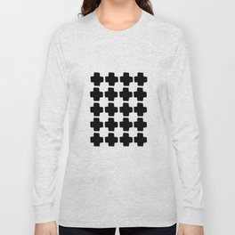 Black and White Abstract III Long Sleeve T-shirt