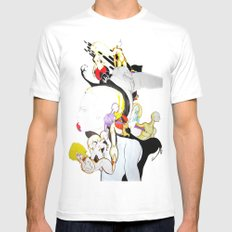 AROUND MY MIND White Mens Fitted Tee SMALL