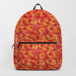 Gummy Sour Peach Rings Photo Pattern Backpack