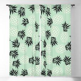 Mint Pineapple Pattern 023 Blackout Curtain