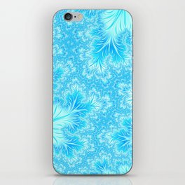 Abstract Christmas Aqua Blue Branches. Cute nature pattern iPhone Skin
