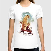 hobbes T-shirts featuring boy and Tiger by Tintanaveia