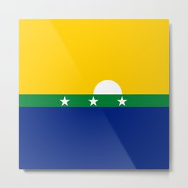 flag of nueva esparta, Venezuela Metal Print