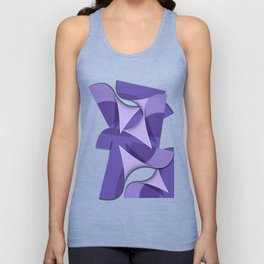 Ultra Violet Abstract Waves Unisex Tank Top