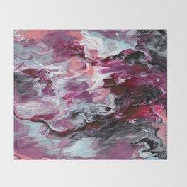 Raspberry Marble Throw Blanket