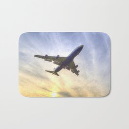 Boeing 747 Sunset  Bath Mat