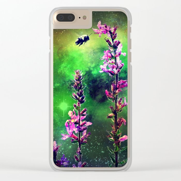 Bee Against The World Clear iPhone Case
