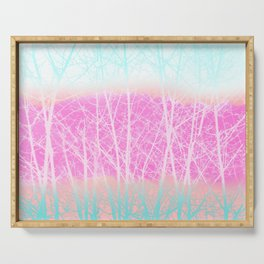 Winter Branches in Ice Cream Colors Serving Tray