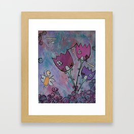 At home with the Fairies Framed Art Print
