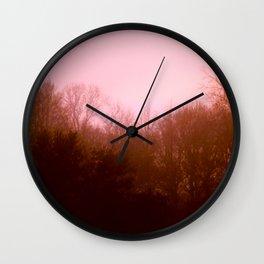Pink Trees Wall Clock