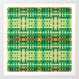 Calypso Tartan / Mango Verde Art Print