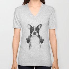 Censored dog Unisex V-Neck
