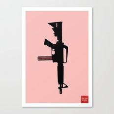 Art not War - Pink Canvas Print