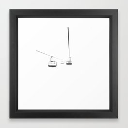 Lifts from and to nowhere Framed Art Print
