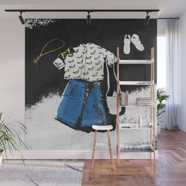 Casual Hipster Outfit Wall Mural