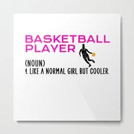 basketball player girl Metal Print