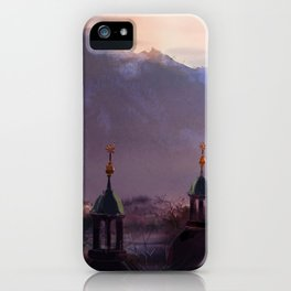 Overlooking the Mountain Town iPhone Case