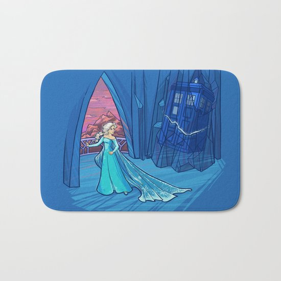 Frozen in Time and Space Bath Mat