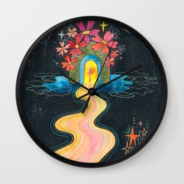 Pilgrimage to the center of my heart Wall Clock
